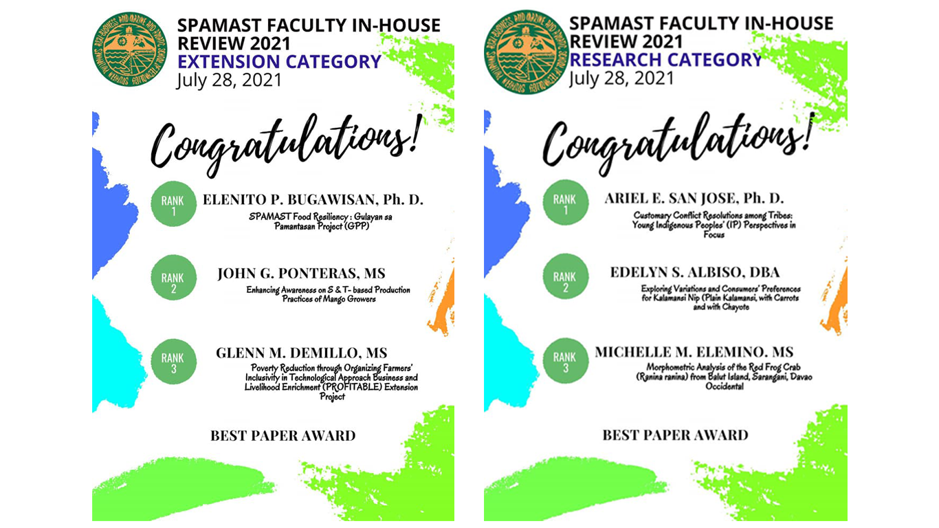 SPAMAST conducted the Faculty In-house review