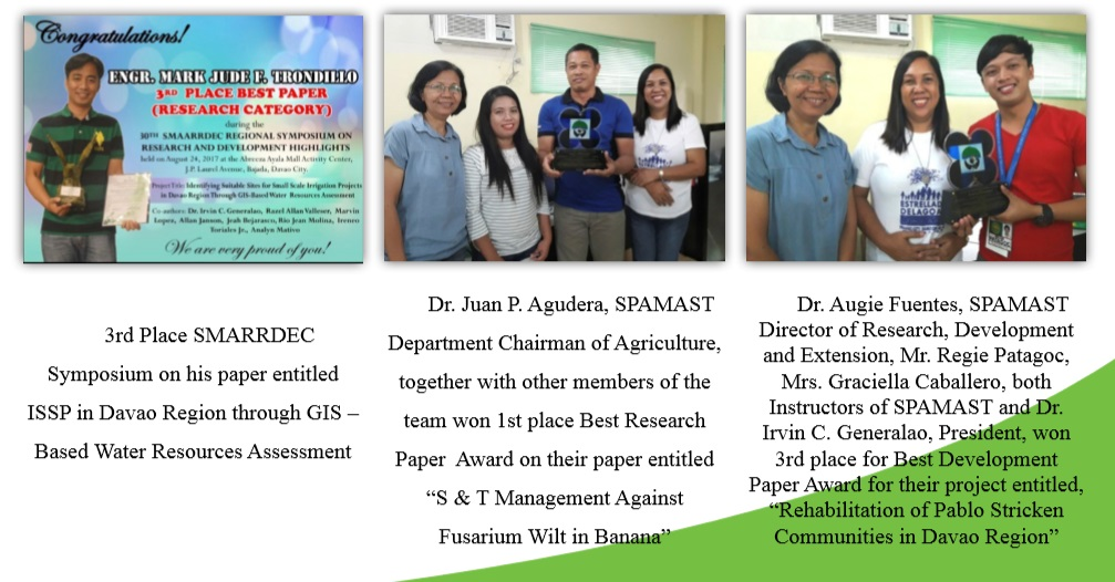 Faculty awardees in Research and Development